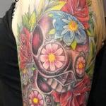 Sugar Skull Temporary Face Tattoo