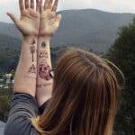 Sugar Skull Temporary Tattoos