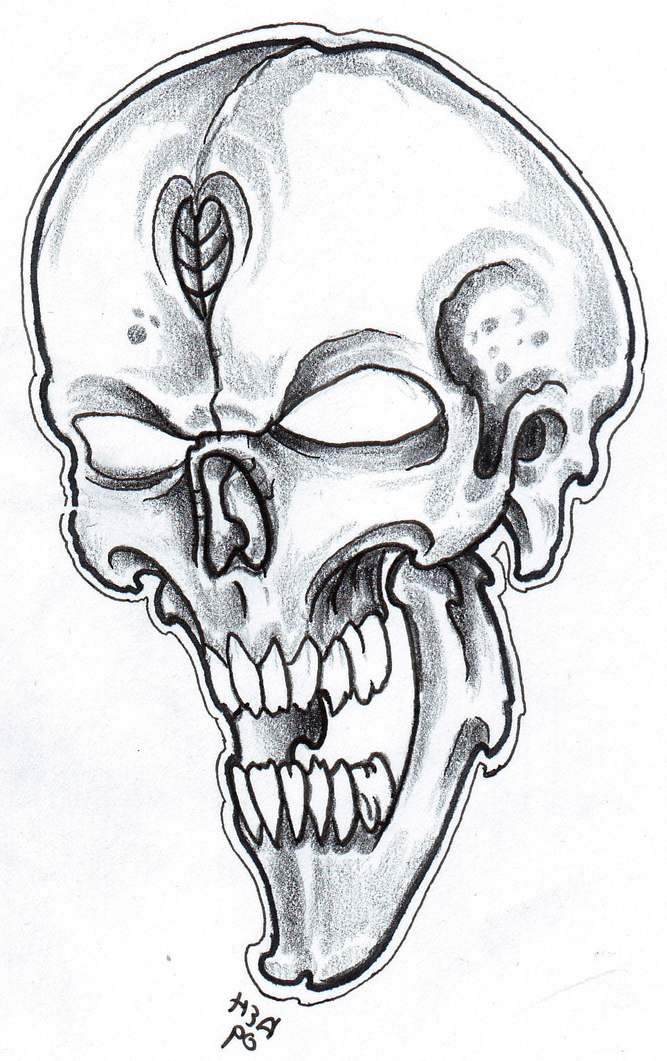 Tattoo drawings of skulls cool tattoos bonbaden for Cool tattoo drawings