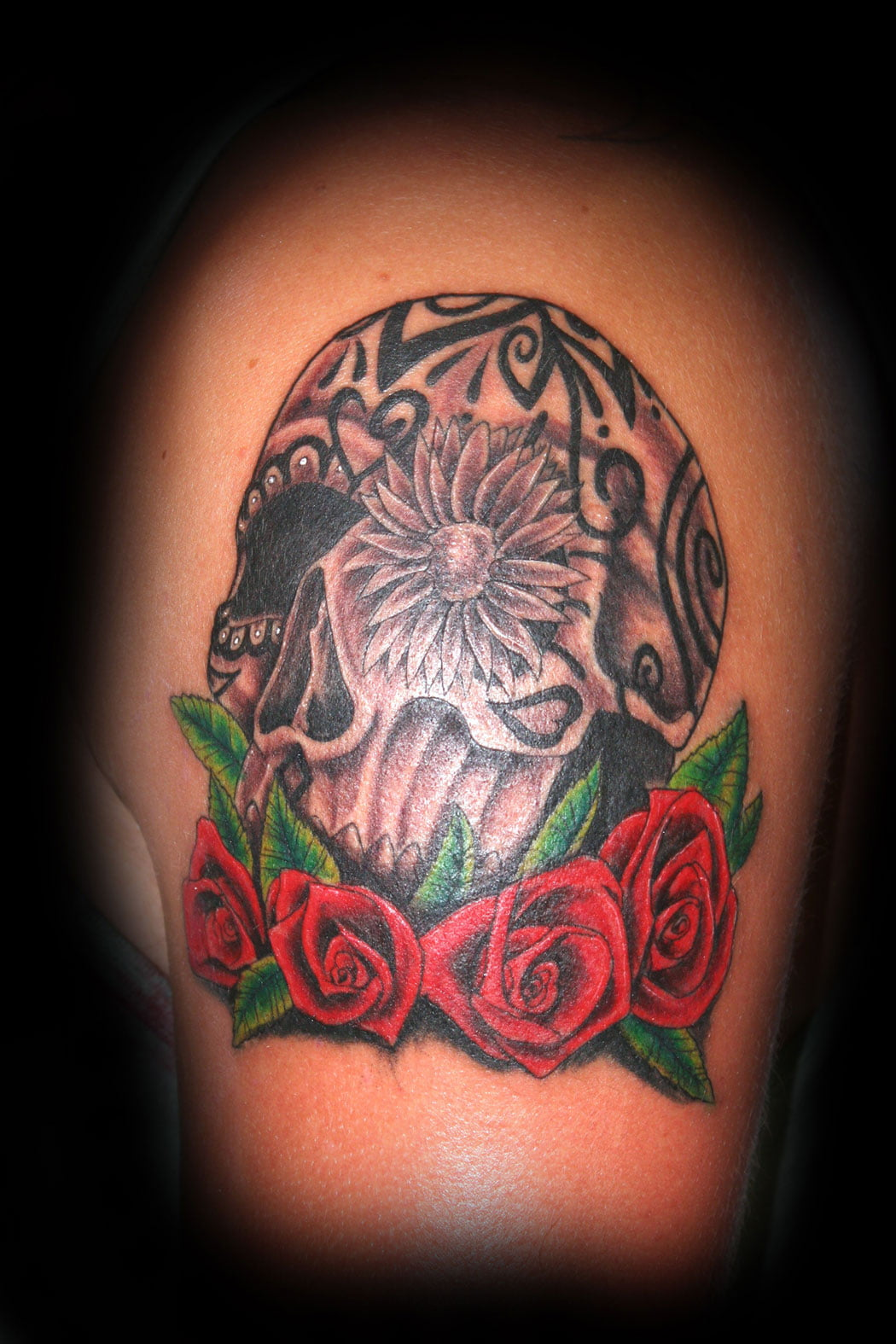 Tattoos Of Sugar Skulls And Roses