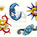 Sun Moon And Stars Tattoos Designs