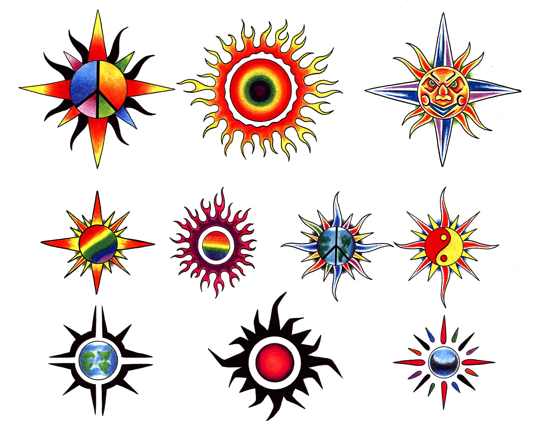 Tattoo Sun Designs