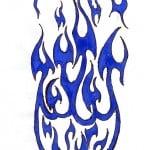 Flame Tribal Tattoo Designs