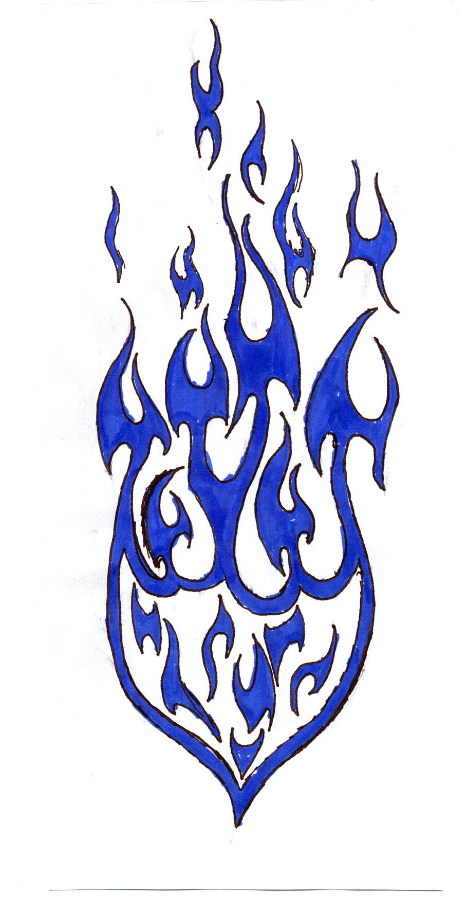 Flame Tribal Tattoo Designs