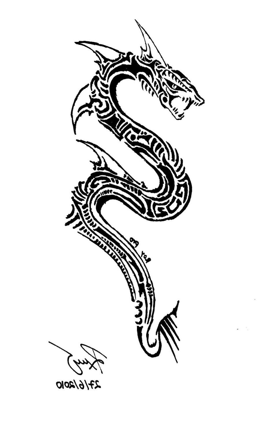 Snake Tribal Tattoos