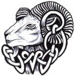 Tribal Aries Tattoo