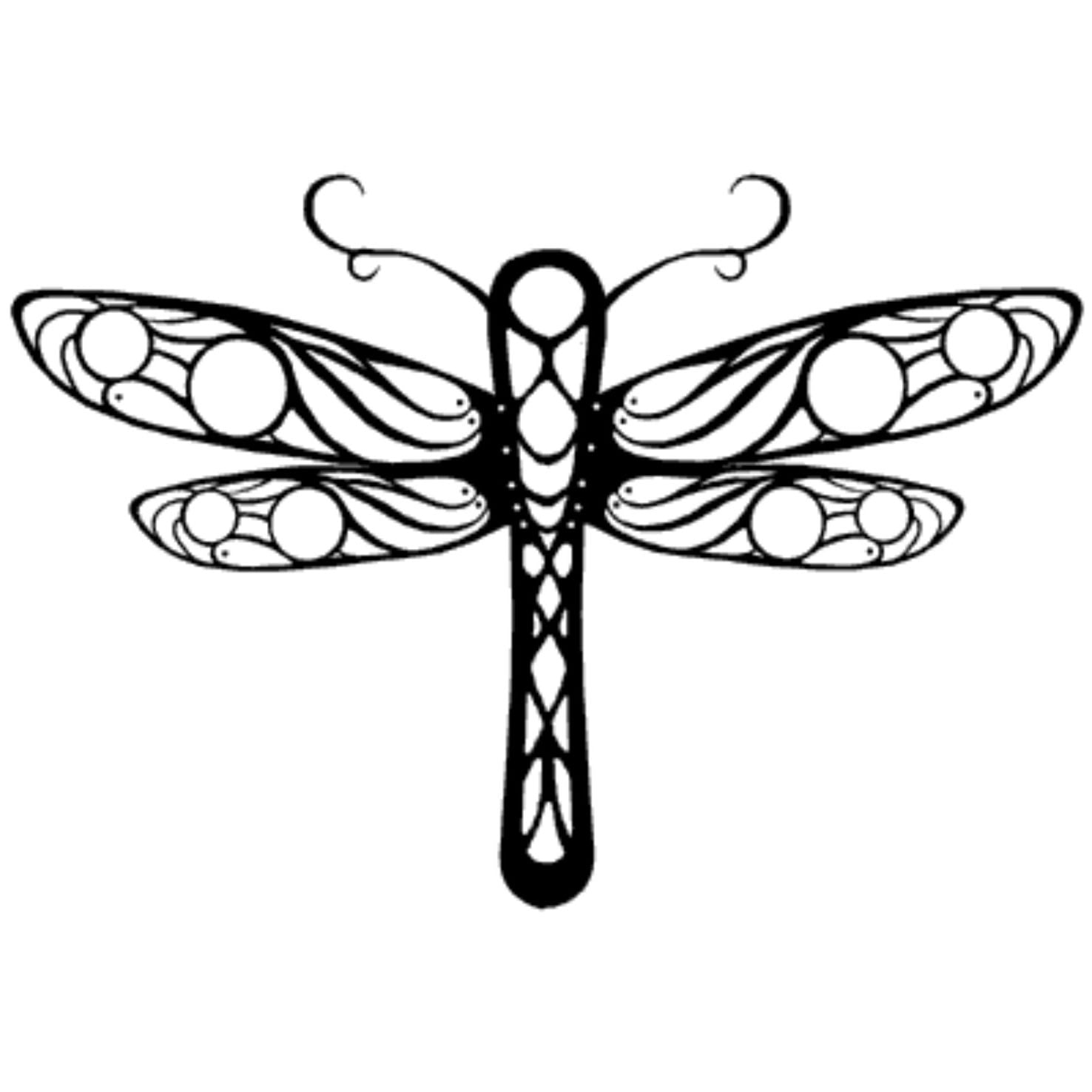 Tribal Dragonfly Tattoo Designs
