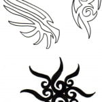 Tribal Letters Tattoos Designs