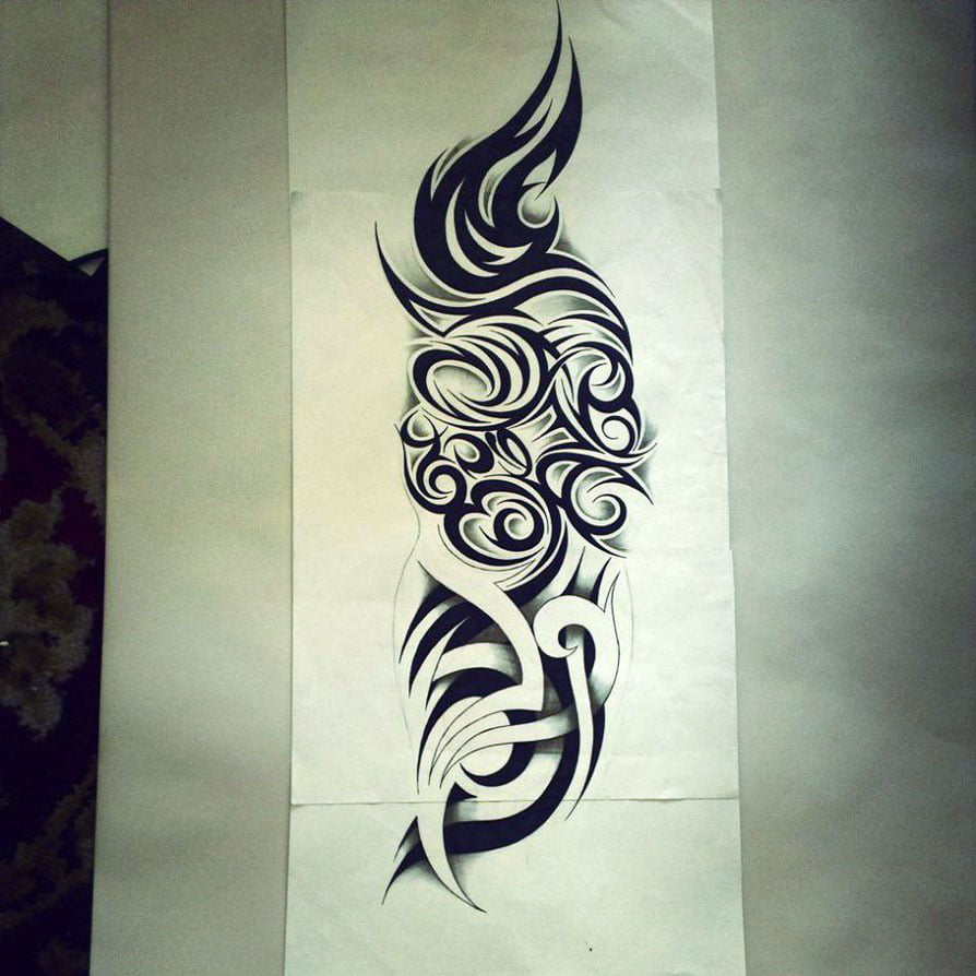tribal name tattoo cool tattoos bonbaden