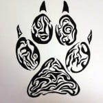 Animal Paw Print Tattoos Designs