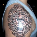 Aztec Sun Tattoos Designs