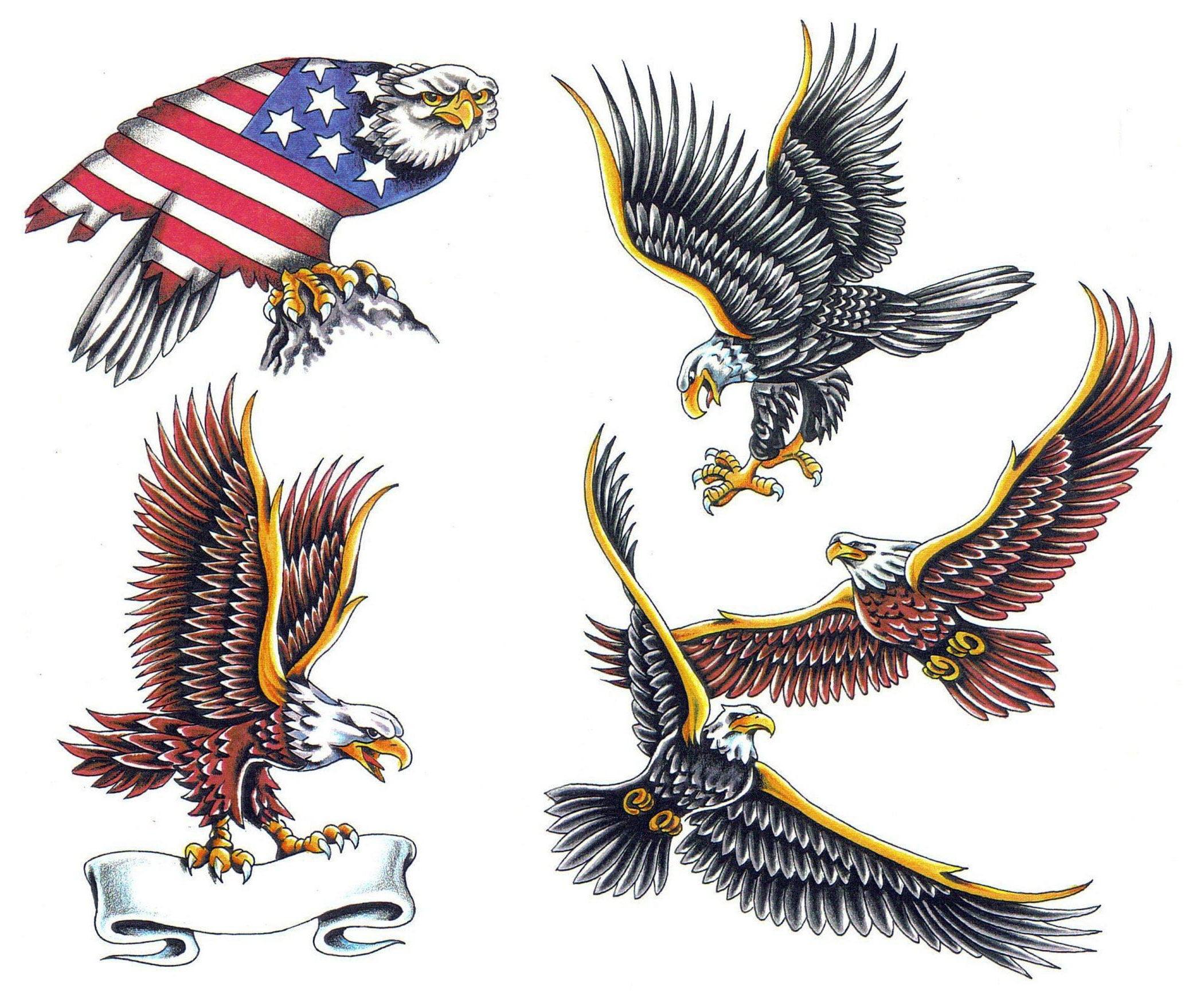 American eagle tattoos high quality photos and flash - Bald Eagle Tattoos Designs