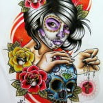 Beautiful Day Of The Dead Tattoos