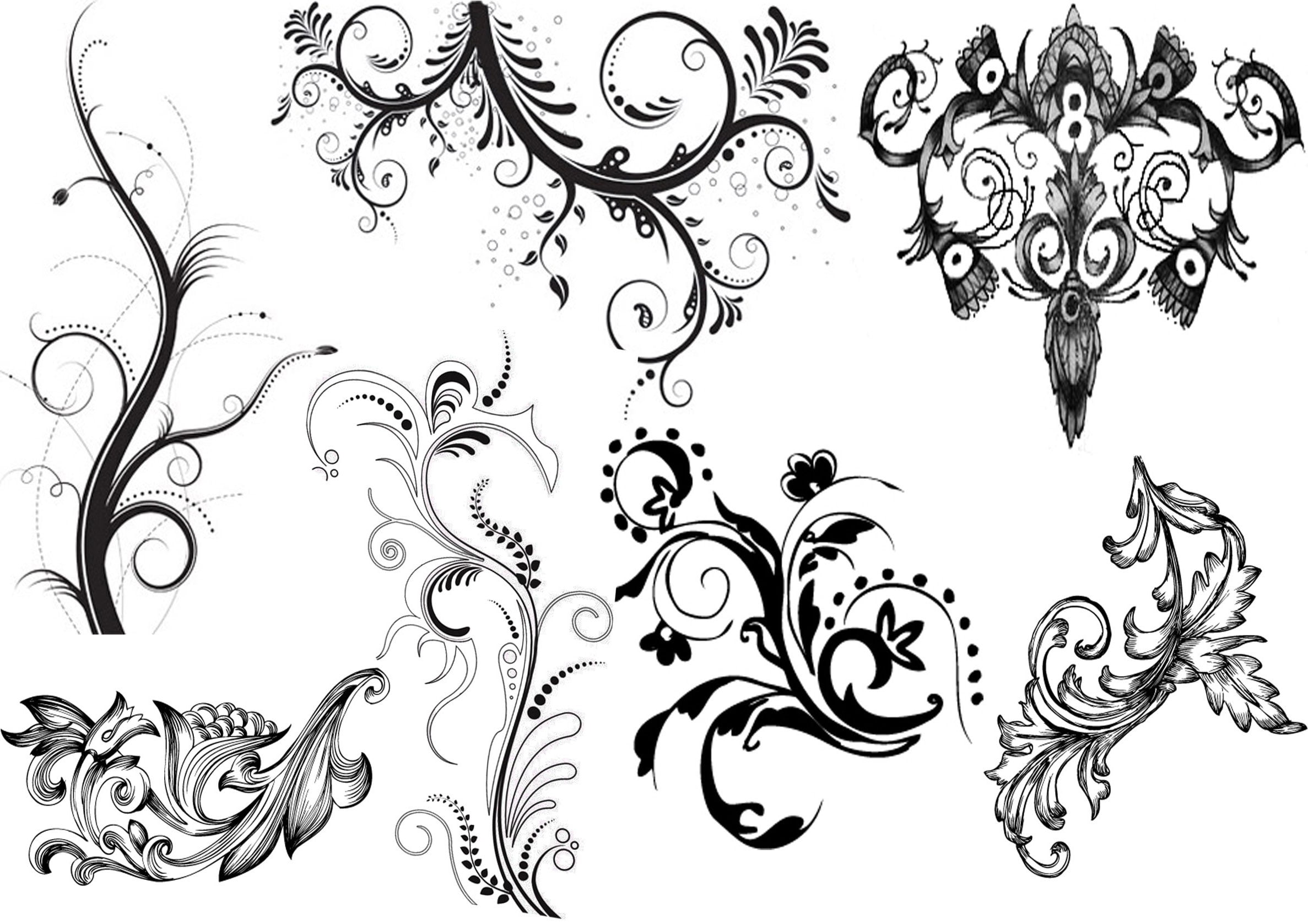 Black And White Tattoos Patterns
