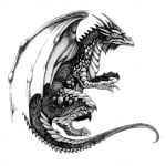 Black Dragon Tattoos Designs