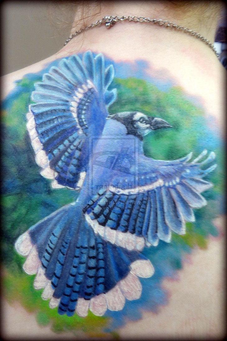 blue jay bird tattoos cool tattoos bonbaden. Black Bedroom Furniture Sets. Home Design Ideas