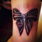 Bow Tattoos On Ankle