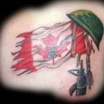 Canadian Flag Tattoos Designs