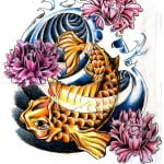 Cartoon Koi Fish Tattoos