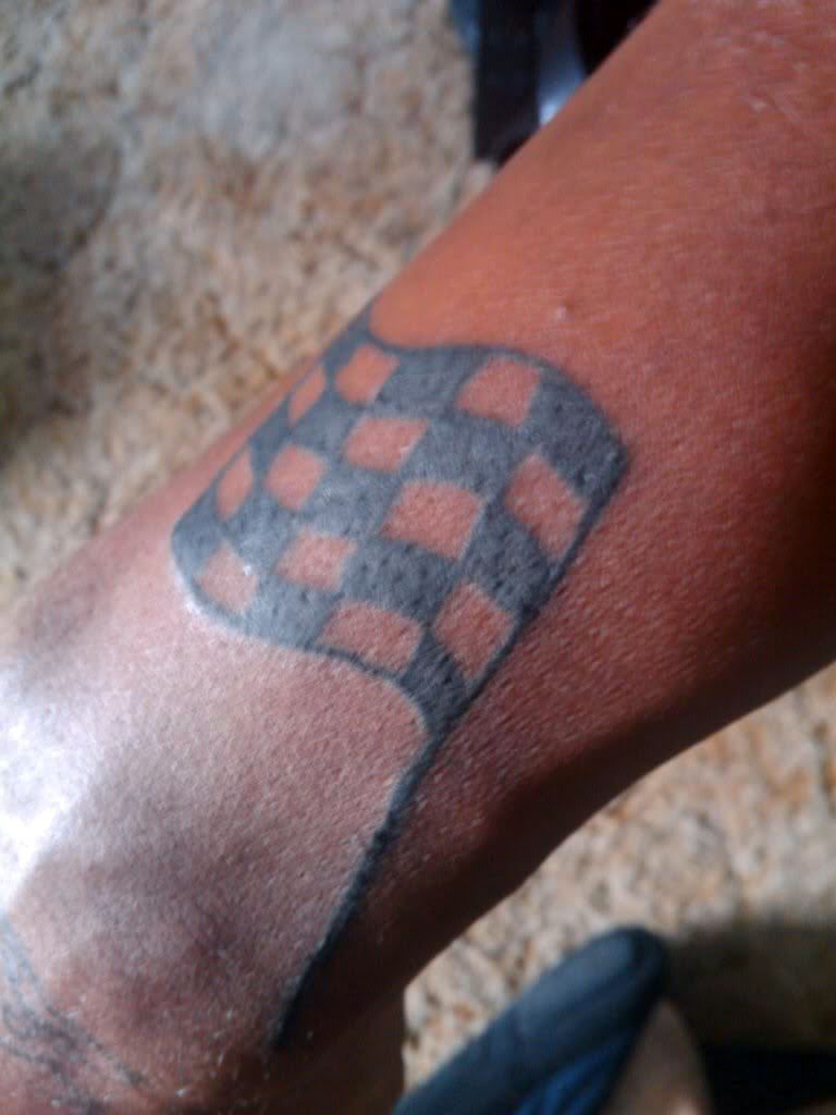 Checkered Flag Tattoos Designs