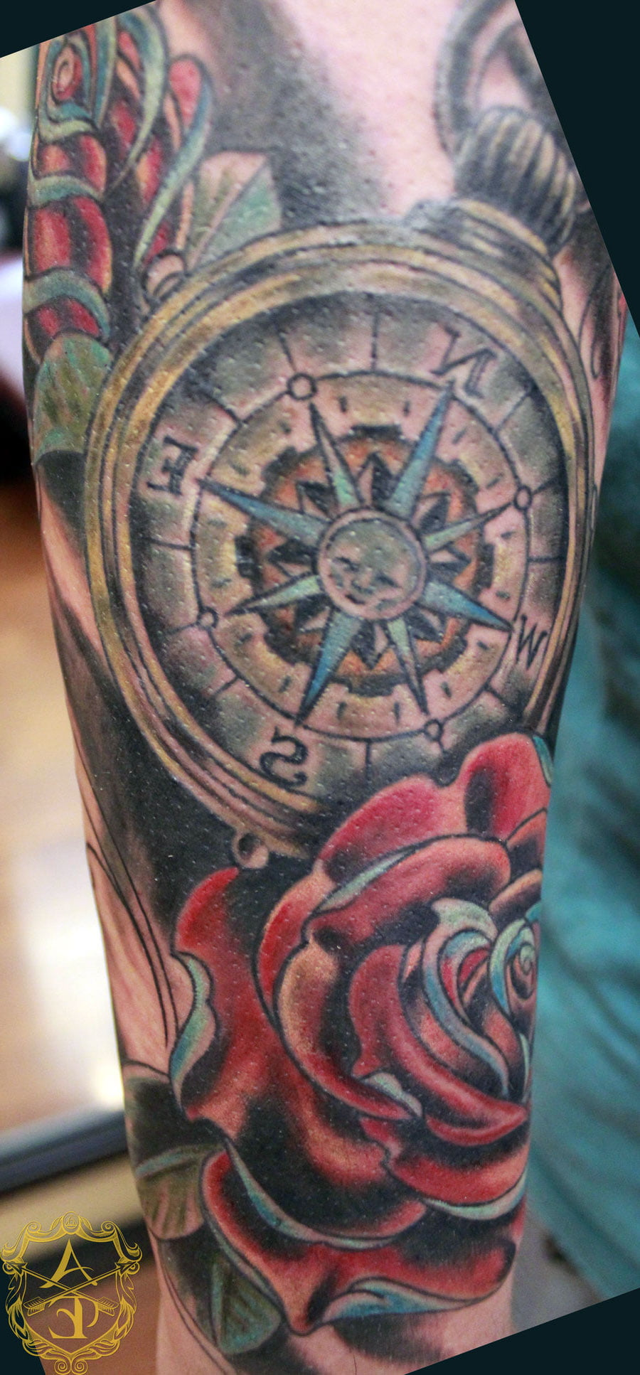 Compass Rose Tattoos Pictures
