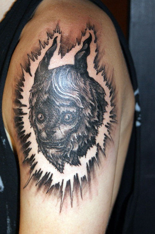 Cool Wolf Tattoos Designs