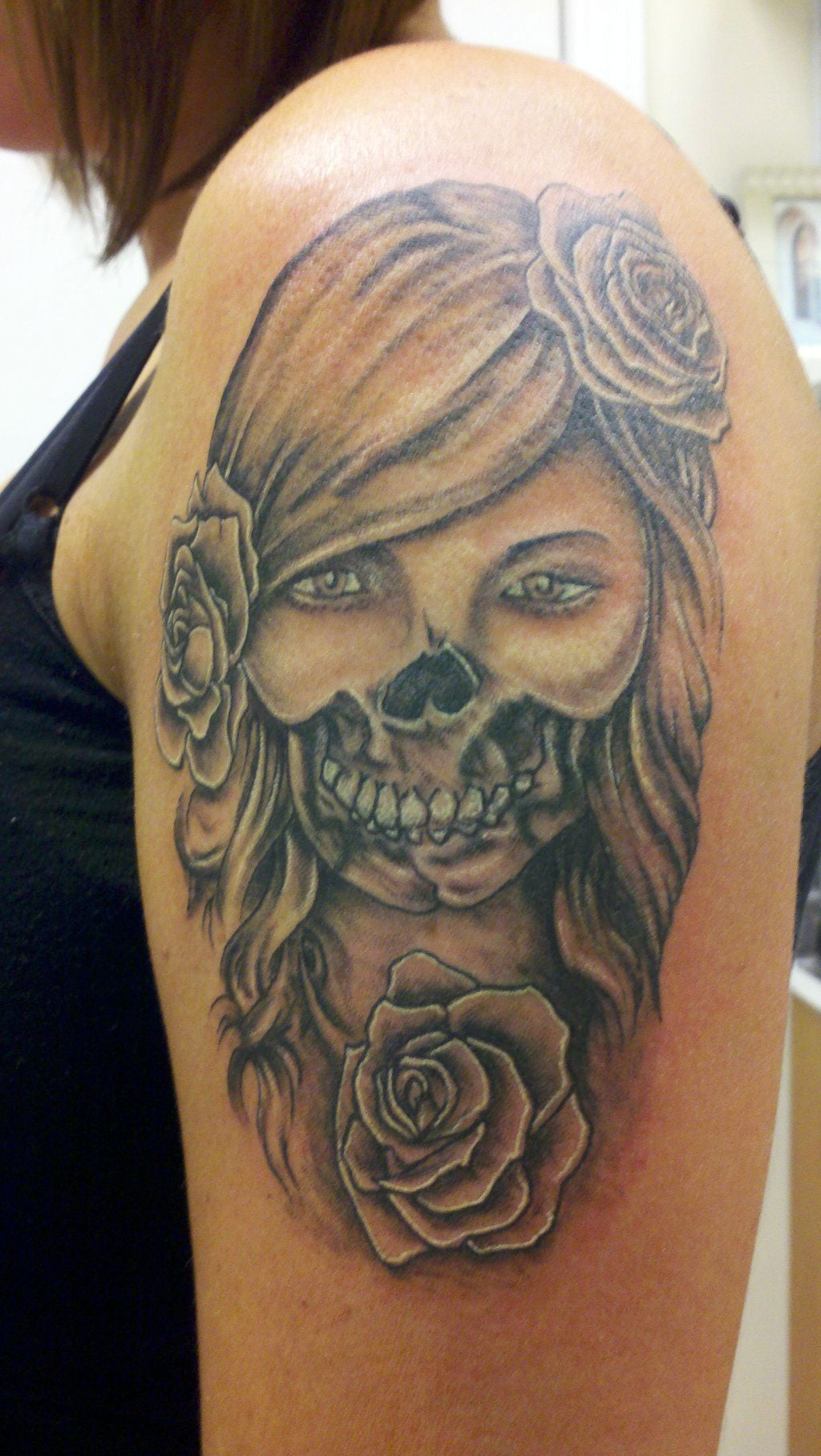 Day Of Dead Tattoos Pictures