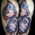 Day Of The Dead Tattoos Of Girls