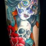 Dia De Los Muertos Girl Tattoos