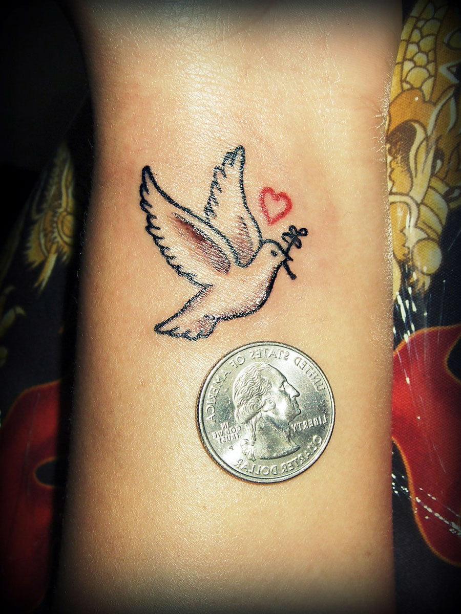 Turtle dove tattoo - photo#27