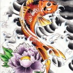 Dragon Koi Fish Tattoos Designs