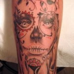 Female Day Of The Dead Tattoos