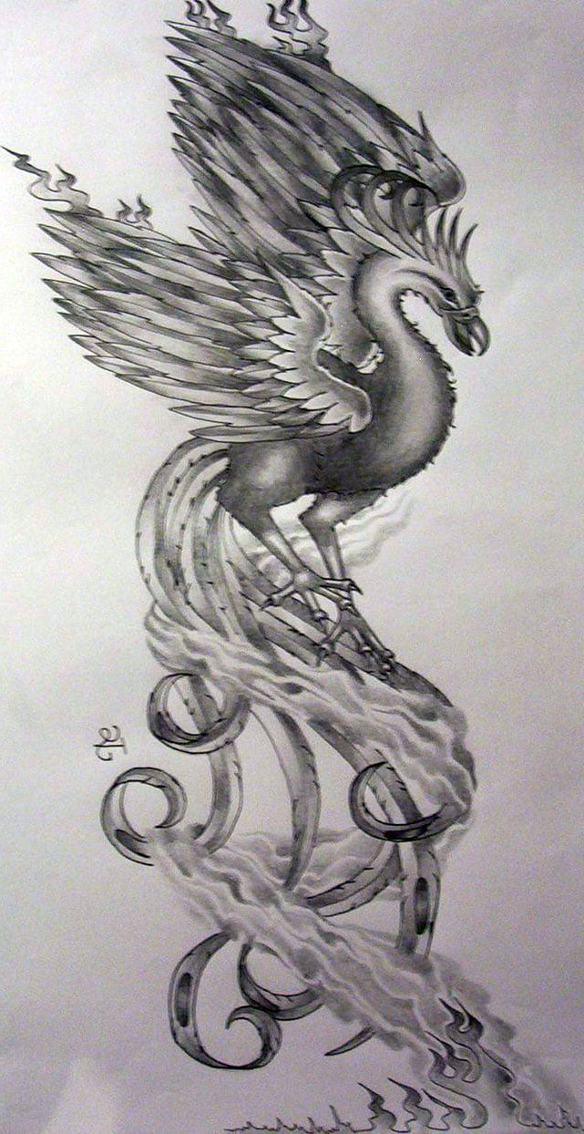 Feminine Phoenix Tattoos Designs