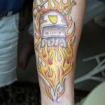 Flame Tattoos On Forearms