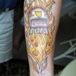 Flame Tattoos On Forearms