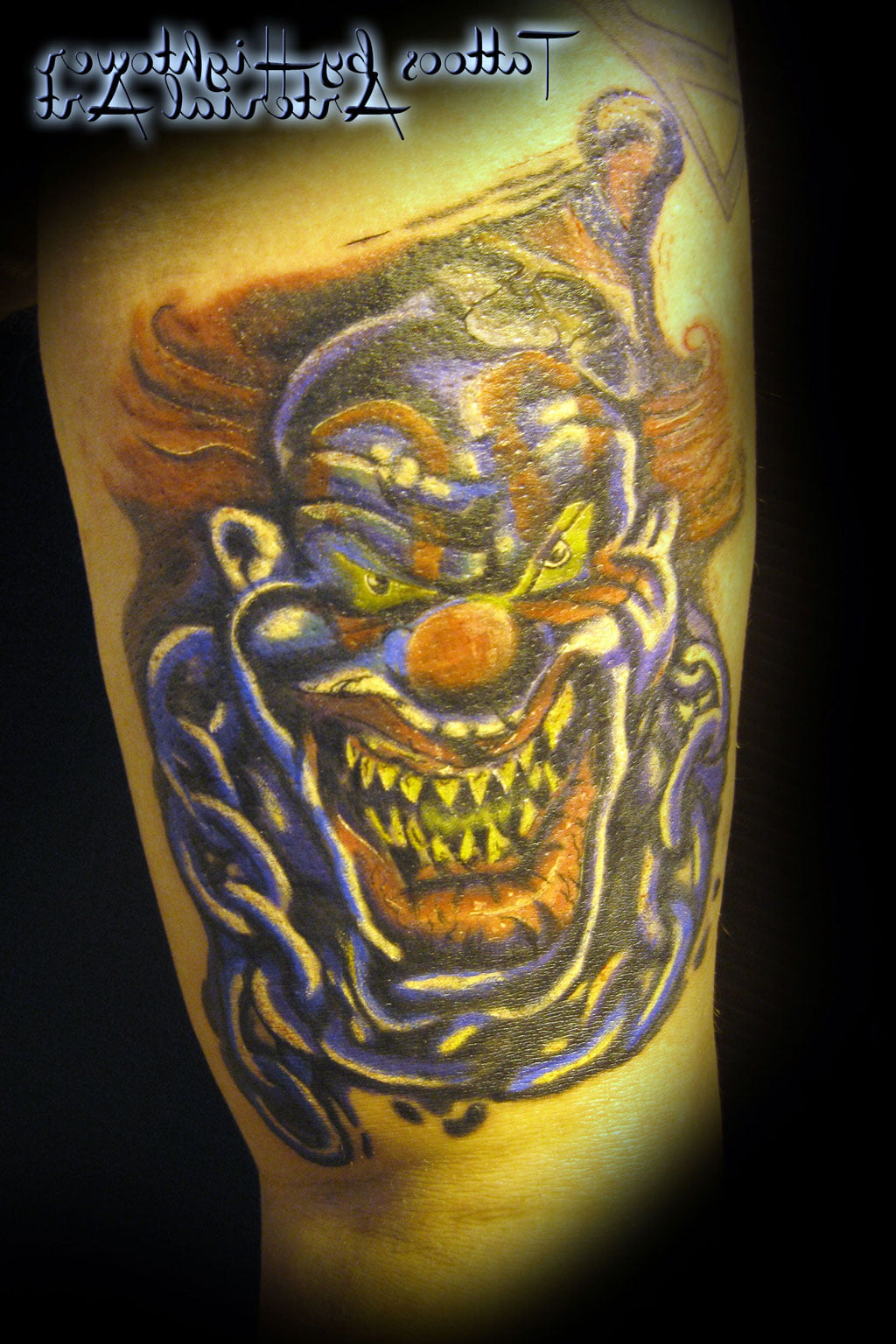 Free Evil Clown Tattoos Designs