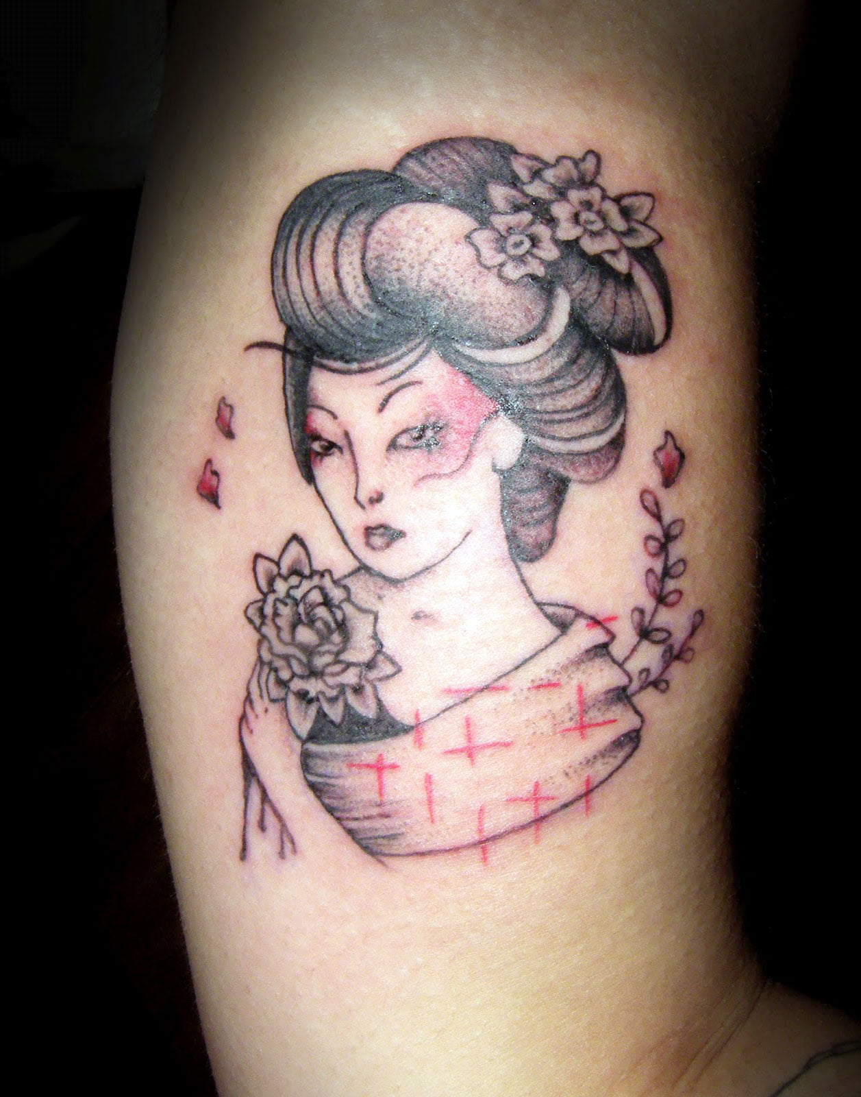 Geisha Girl Tattoos Designs