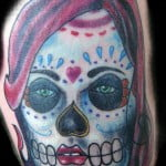 Girl Sugar Skull Tattoos