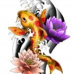 Koi Tattoos Designs