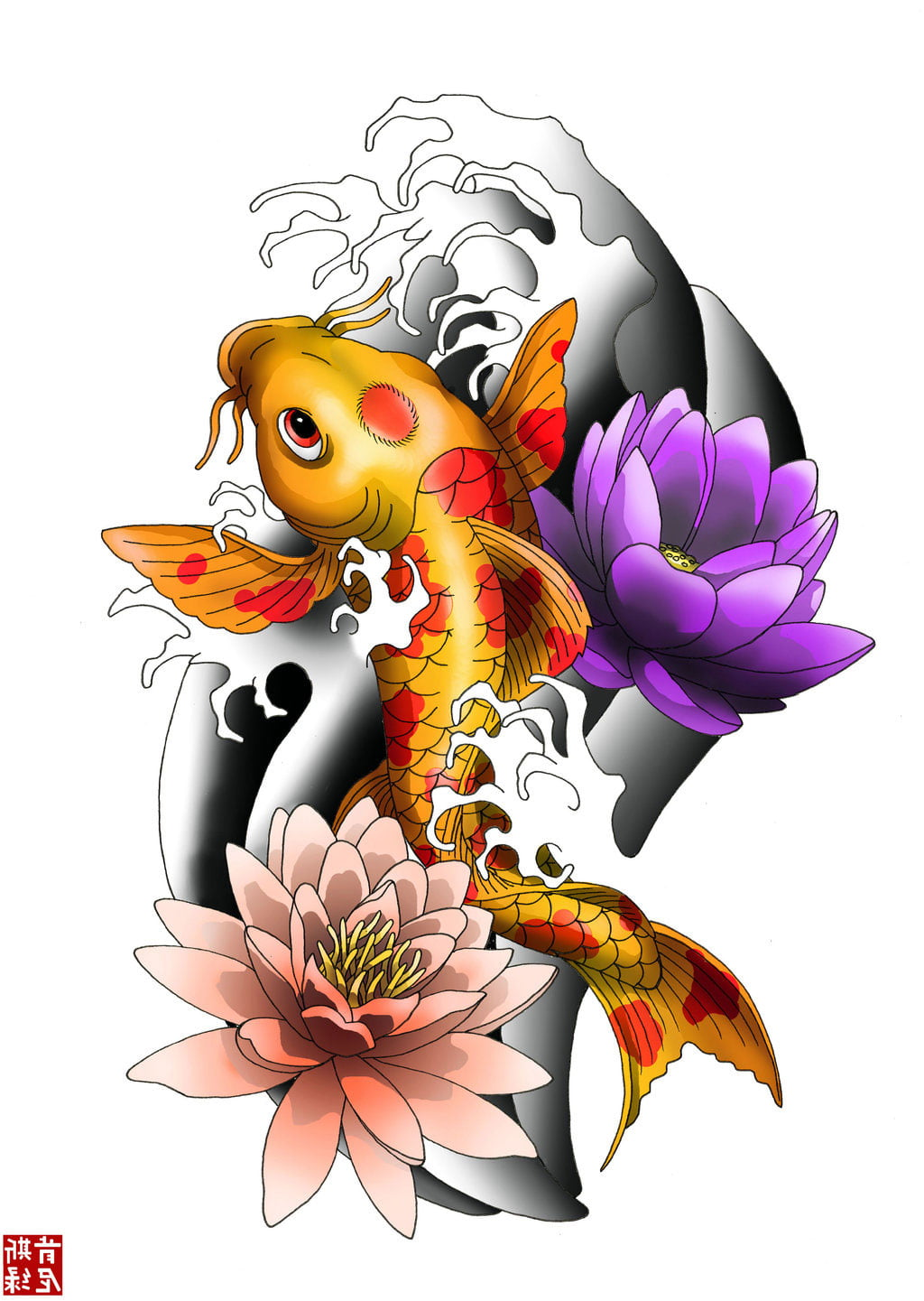Koi Tattoos Designs